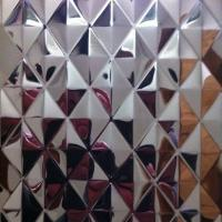 SUS304 Embossed Stainless Steel Sheets ,PVD Color Decoration Sheets 1250mm for sale