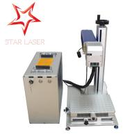 Best Coated Mini Fiber Laser Marking Machine Easy Operation For Crystal / Brass wholesale