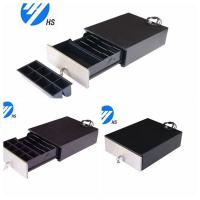Quality Custom Black Electronic Cash Drawer With Metal Front Panel For POS Machine wholesale