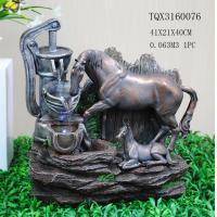 Best Horse Animal Large Resin Water Fountain With Flashing Light 40 X 30 X 41 Cm wholesale