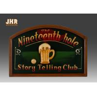 Best Dark Green Club Wooden Wall Signs Antique Wall Art Signs Golf Club Wall Decor wholesale
