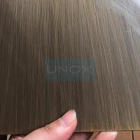 304 Hairline + Bronze color stainless steel sheet -Copper Plating Stainless for sale