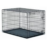 Collapsible Live Animal Pet Cages with Plastic Tray Iron Kennel Cage Dog Cat Pet Cages for sale