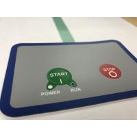 Buy cheap Waterproof membrane switch with 3M adhesive and 2 embossed buttons from wholesalers