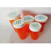 Best 8 Sizes Amber Child Resistant Vials , Translucent Color Child Proof Pill Container wholesale