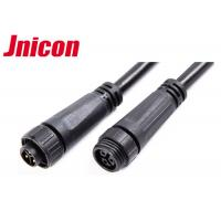 Best 300V 10A Waterproof Cable Connector Male Female Over Molding With Screw Locking wholesale