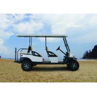 Cheap Electric Transportation 6 Seater Golf Cart Orange Color For Sightseeing for sale