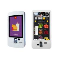 Best Food Ordering Self Service Kiosk , Touch Screen Display Kiosk With Pos System / Bill Printer wholesale