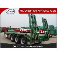 Quality 3 Axle 60 Ton Gooseneck Low Bed Semi Trailer With Ladder For Construction Machinery Transportation wholesale