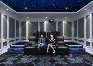 Best Home Cinema System With Black Recliner Sofa / Projects / Speakers / Screen wholesale