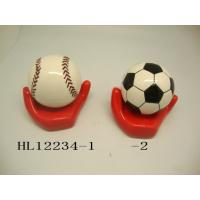 Best Football And Baseball Ceramic Money Box Bank With Base 10 X 10  X 12 Cm wholesale