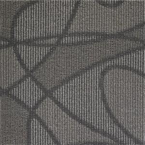 Best Modular Peel And Stick Indoor Outdoor Carpet Tiles / Black Commercial Carpet Tiles wholesale