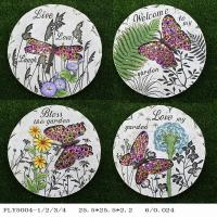 Best Plate Shaped Ceramic Garden Art Personalized Garden Stepping Stones Diy wholesale