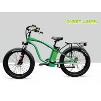 Best 9 Speed 26 X 4.9 Tire Electric Beach Cruiser Bicycle With Rear Carrier Lights MTB Suspension Fork wholesale