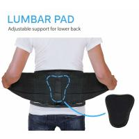 Cheap L XL Elastic Lumbar Back Spine Brace With Lumbar Pad Adjustable Breathable for sale