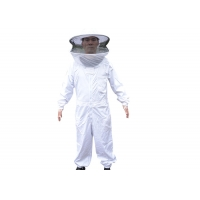 Cotton And Terylene xxl beekeeping protective clothing With Round Veil