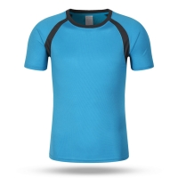 Best 160g Solid Color Round Neck Bottom Shirt Quick Drying Short Sleeve T-Shirt Men's Summer wholesale
