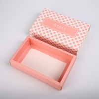 China CMYK 350g Cardboard Art Paper Drawer Boxes Collapsible Flat Sleeve Sliding Socks Underwear for sale