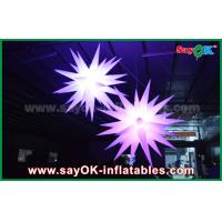 Quality Giant 1.5m LED Star Balloon Inflatable Lighting Decorations For Pub / Bar wholesale