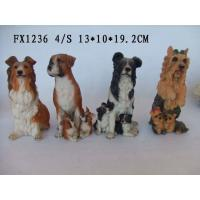Best Customized Design Polyresin Figurine Dog Garden Statues With Different Postures wholesale
