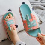 China 1E0169 Custom Cute Animal Elk Bedroom Slipper Little Girl Kid Plain PVC Slide Slipper for sale