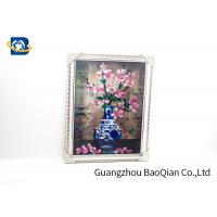 Modern Style 3D Lenticular Pictures Beautiful Flower Picture / Printing for sale