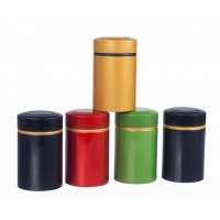 China CMYK Large Metal Storage Tins With Lids Aluminum Airtight Herb Container for sale
