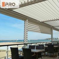 Best Long Life Span Modern Aluminum Pergola With Electric Motor System wholesale