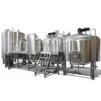 Buy cheap Industrial Brewing 3 Vessel Brewhouse 3mm For Interior Shell / 2mm For Exterior from wholesalers