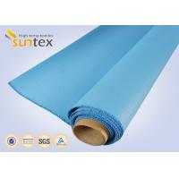 Best 0.8 Mm Or OEM Blue Fire / Heat Resistant Fiberglass Cloth To Europe 1000 G/Sqm wholesale