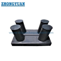 Welded Fabricated Inclined Double Bitt Bollard GB 556 SH Type With Box Base Ship Mooring Equipment for sale