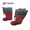 Girl'S EVA Foam Print Lining 25-33 PVC Rain Boots for sale