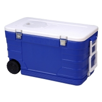 52L Cooler Box With wheel ice box cooling bucket cold storage bin  plastic cooler box for fishing for sale
