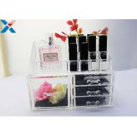 Best Rectangle Acrylic Makeup Drawer Organizer / Acrylic Cosmetic Organiser ROHS Approved wholesale