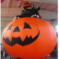 Quality 3m Oxford Inflatable Pumpkin With Cat For Halloween Decoration wholesale