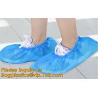 Disposable colorful antistatic PE CPE PP SMS Microporous shoe cover good quality low price waterproof shoe bagease pack for sale