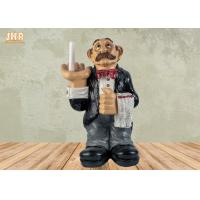 Buy cheap Polyresin Butler Sculpture Toilet Paper Holder Funny Resin Waiter Home from wholesalers