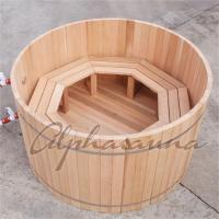 Best 100% Red cedar Wooden Hot Tubs / traditional sauna kit , No electricity wholesale
