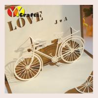 Cheap Special bicycle design Pop Up Happy Birthday Cards  for sunshine kids for sale