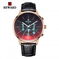 Buy cheap Chinese wholeasale 45mm big dial black leather strap mens metal watches from wholesalers