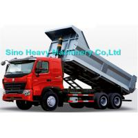 Best 336HP HOWO Heavy Duty Dump Truck, red, white and blue colors, ZZ3257M3247N, 6x4 wholesale