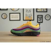 China Unisex Nike Air Max 97 Mint Green Yellow Multi CLR92763 Nike Sneakers discount Nike shoes www.apollo-mall.com on sale