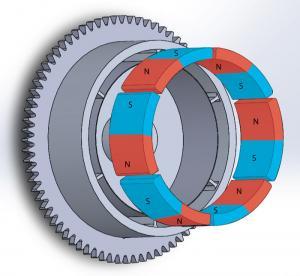 Best Durable Customized Flywheel Arc Shaped Segment Ferrite Magnet wholesale