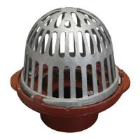 China R1100 series Cast Iron Roof Drain with A1-C3 Clamp and A1 Body with 2-4 No-Hub and Push On Outlet for Roof Drainage for sale
