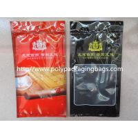 Best Resealable Plastic Cigar Bags With Humidity Controlled System For Nicaragua Cigars / Dominica Cigars wholesale