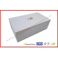 Best Rectangle Silver Rigid Gift Boxes , Handmade Magnetic Gift Box Color Customized wholesale
