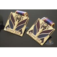 Best Royal 10K And 15K Custom Sports Medals Soft Enamel Color With Sublimated Ribbon wholesale