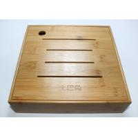 Cheap Bamboo Display Box, Wooden Tea Storage Box With 4 Compartments And Lids for sale