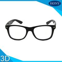 Quality Cinema White Circular Polarized 3D Glasses foldable arms WITH Anti UV wholesale