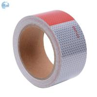 High Visibility DOT Reflective Tape For Trailers 6 Red / 6 White 30 Feet Roll